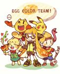 >_< 1other 2boys 2girls adult animal animal_crossing animal_crossing:_new_leaf animal_ears ape_(company) bandai baseball_cap blonde_hair blush_stickers child color_connection creatures_(company) dog_ears dog_girl dog_tail doubutsu_no_mori egg egg_yolk furry game_freak gen_1_pokemon hair_ornament hal_laboratory_inc. hat human inkling isabelle_(animal_crosing) jacket jewelry long_hair lucas mother_(game) mother_2 mother_3 mouse namco nintendo nintendo_ead o_< olm_digital open_mouth pac-man pac-man_(game) pac-man_eyes pikachu poke_ball pokemon pokemon_(anime) pokemon_(creature) pokemon_(game) round_man shizue_(doubutsu_no_mori) skirt smile snake sora_(company) splatoon splatoon_2 squid squid_girl squidbeak_splatoon super_smash_bros. super_smash_bros._ultimate super_smash_bros_brawl tail teijiro tentacle_hair tobidase:_doubutsu_no_mori topknot wink