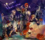 bad_id bad_pixiv_id halloween halloween_costume long_hair moogle multiple_boys multiple_girls short_hair