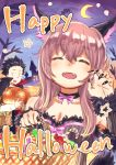 1boy 1girl basket candy castle cat_ears cat_girl emoshon_emotion fang halloween halloween_costume ishida_shouya jack-o-lantern koe_no_katachi moon nail_polish nishimiya_shouko pumpkin ribbon star
