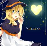 1girl bad_id bad_pixiv_id blonde_hair blue_eyes breasts dress halloween kingdom_hearts kingdom_hearts_ii looking_at_viewer medium_hair namine solo uu_(13949795)