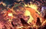 arcanine chandelure charizard creatures_(company) game_freak gen_1_pokemon gen_2_pokemon gen_4_pokemon gen_5_pokemon karamimame lucario mega_scizor nintendo pokemon pokemon_(creature) shaymin typhlosion volcano