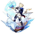 1boy artist_request blonde_hair blue_eyes dragalia_lost holding holding_rod looking_at_viewer non-web_source official_art pointing pointing_at_viewer sailing ship splashing thaniel transparent_background water watercraft
