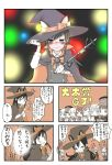 5koma :d adjusting_hair alternate_costume animal_ears asashio_(kantai_collection) bangs belt black_hair blue_hair blunt_bangs blurry blush bokeh bow bowtie buttons camera cape cat_ears cellphone closed_eyes closed_mouth collared_shirt comic constricted_pupils crying crying_with_eyes_open depth_of_field digital_camera double_bun eyebrows_visible_through_hair gloves hair_between_eyes hair_ribbon hat hat_ribbon highres holding holding_camera holding_phone jitome kantai_collection long_hair long_sleeves looking_away mast mocchichani monochrome neck_ribbon open_mouth orange_neckwear orange_ribbon partially_colored phone remodel_(kantai_collection) ribbon sceptor shirt short_hair side_ponytail smartphone smile speech_bubble suspenders tears track_suit translation_request video_camera wavy_hair wavy_mouth white_gloves white_shirt witch_hat