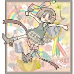 azuma_seiji blush bone boots bow butterfly cake checkered clock colored_pencil colorful crown cup fish food fork fruit gear gears guitar hairband higashi_(azm) higashi_(pixiv114341) high_heels instrument key keyboard keyboard_(instrument) lace lock lowres oekaki original outstretched_arms paint paintbrush painting pastry pencil polka_dot rainbow ribbon ribbons scissors shoes spread_arms strawberry striped tea teacup teapot trim_brush umbrella wooden_pencil