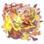 absurdres creatures_(company) delphox fire fox game_freak gen_6_pokemon highres nintendo no_humans pokemon pokemon_(creature) pokemon_(game) pokemon_number pokemon_xy stick