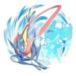 absurdres creatures_(company) frog game_freak gen_6_pokemon greninja highres long_tongue nintendo no_humans pokemon pokemon_(creature) pokemon_(game) pokemon_number pokemon_xy red_eyes shuriken tongue