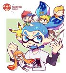 1girl angry bike_shorts biting black_hair blonde_hair blue_eyes blue_hair blush brown_hair chibi creatures_(company) domino_mask doubutsu_no_mori fangs game_freak gen_1_pokemon gloves hair_ornament hat inkling link long_hair lucas mask mother_(game) mother_2 mother_3 multiple_boys ness nintendo pikachu pointy_ears pokemon pokemon_(game) quiff shirt short_hair single_vertical_stripe smile splatoon splatoon_1 squid super_smash_bros. t-shirt teijiro tentacle_hair the_legend_of_zelda the_legend_of_zelda:_the_wind_waker toon_link villager_(doubutsu_no_mori)
