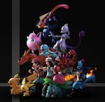 1boy 1girl absurdres blue_(pokemon) charizard creatures_(company) game_freak gen_1_pokemon gen_2_pokemon gen_4_pokemon gen_6_pokemon gen_7_pokemon greninja highres incineroar ivysaur jigglypuff lucario mewtwo nintendo pichu pikachu pokemon pokemon_(creature) red_(pokemon) red_(pokemon_frlg) squirtle super_smash_bros. super_smash_bros._ultimate