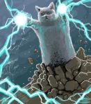 cat chuubatsu_nagano lightning longcat lowres magic meme no_humans realistic tyuubatu