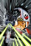 90s adam_warren battle collaboration cover death_star goggles helmet insignia joewight motion_blur official_art oilers promotional_art rebel_alliance rebel_pilot roundel science_fiction smile space_craft space_station star_wars star_wars_manga starfighter t-65_x-wing tie_advanced_x1 tie_fighter trench x-wing