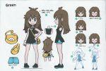 backpack bag black_dress blue_(pokemon) brown_eyes brown_hair creatures_(company) dress game_freak highres nintendo pokemon pokemon_(game) pokemon_lgpe reference_sheet