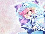 hat highres japanese_clothes kimono pink_hair ribbon saigyouji_yuyuko sakurazawa_izumi short_hair touhou wallpaper