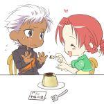 casual chibi crossover esaka feeding heart hong_meiling king_of_fighters krizalid m.u.g.e.n pudding touhou translated