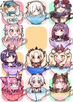 6+girls :d :o =_= ^_^ absurdres ahoge ainu_clothes anastasia_(fate/grand_order) artoria_pendragon_(all) bangs baseball_cap bikini_top black_bow black_legwear blonde_hair blue_eyes blue_hat blush bow brown_eyes brown_wings candy cape chibi circe_(fate/grand_order) closed_eyes closed_eyes closed_mouth commentary_request controller covered_mouth cup dragon_horns dress earrings elizabeth_bathory_(fate) elizabeth_bathory_(fate)_(all) ereshkigal_(fate/grand_order) eyebrows_visible_through_hair facial_mark fang fate/extra fate/grand_order fate_(series) feathered_wings food forehead_mark fur_collar game_controller hair_between_eyes hair_bow hair_over_one_eye hair_ribbon hair_through_headwear hair_tubes hairband hat head_wings headpiece heart high_ponytail highres holding holding_food horns ibaraki_douji_(fate/grand_order) ibaraki_douji_(swimsuit_lancer)_(fate) illyasviel_von_einzbern in_container in_cup infinity jako_(jakoo21) japanese_clothes jewelry katsushika_hokusai_(fate/grand_order) kimono lollipop long_hair looking_at_viewer minigirl multicolored_hair multiple_girls mysterious_heroine_xx_(foreigner) one_eye_closed oni oni_horns open_mouth parted_bangs parted_lips pink_bow pink_hair pink_hairband pointy_ears ponytail purple_dress purple_hair purple_kimono red_bow red_cape red_eyes red_ribbon ribbon scathach_(fate)_(all) scathach_skadi_(fate/grand_order) short_eyebrows shuten_douji_(fate/grand_order) shuten_douji_(halloween)_(fate) silver_hair sitonai skull sleeping sleeveless sleeveless_kimono smile snowflake_print sparkle star streaked_hair swirl_lollipop teacup thick_eyebrows thigh-highs tiara tomoe_gozen_(fate/grand_order) twintails two_side_up v-shaped_eyebrows violet_eyes white_bikini_top white_bow white_hair white_kimono wings