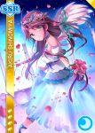 blue_eyes blush character_name dress long_hair love_live!_school_idol_festival purple_hair shinomiya_akiru smile veil wedding