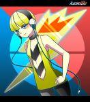 1girl blonde_hair blue_eyes breasts commentary_request creatures_(company) dress game_freak headphones kamitsure_(pokemon) nintendo pantyhose pokemon pokemon_(game) pokemon_bw smile solo