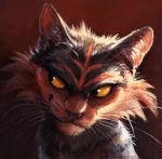 cat creatures_(company) deviantart_username game_freak gen_7_pokemon kenket litten looking_to_the_side nintendo no_humans pokemon pokemon_(creature) pokemon_(game) pokemon_sm portrait realistic smirk solo whiskers