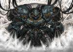 cable commentary_request highres mecha no_humans original robot smoke solo steam teeth tekkotsu_(tekkotz)
