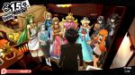2boys 6+girls amamiya_ren angry bayonetta bayonetta_(character) bayonetta_2 black_dress black_hair black_jumpsuit black_shorts blonde_hair blue_dress blue_hair blue_jumpsuit blue_tank_top box cardboard_box chair commentary creatures_(company) crossover crown detective_pikachu dress english_commentary fake_screenshot fire_emblem fire_emblem:_kakusei from_behind game_freak gameplay_mechanics gift gift_box great_detective_pikachu:_the_birth_of_a_new_duo green_eyes green_hair grey_hair highres holding_object indoors inkling kid_icarus kid_icarus_uprising long_hair lucina mario_(series) matching_hair/eyes metal_gear_(series) metal_gear_solid metroid mgx0 multiple_boys multiple_girls nintendo orange_eyes orange_hair pale_skin palutena parody patreon_username persona persona_5 pink_dress plant pointy_ears pokemon potted_plant princess_peach princess_zelda rosetta_(mario) samus_aran shirt short_hair shorts sleeveless sleeveless_dress snake_box_sneak solid_snake splatoon_(series) super_mario_galaxy super_smash_bros. super_smash_bros._ultimate table tentacle_hair the_legend_of_zelda the_legend_of_zelda:_a_link_between_worlds triforce white_dress white_shirt wii_fit wii_fit_trainer