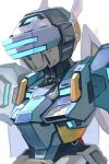 armor copyright_request hankuri helm helmet mecha no_humans robot simple_background solo temjin upper_body virtual_on visor white_background