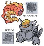 antennae capsule_monsters creatures_(company) game_freak gen_1_pokemon gyarados horns japanese_text nintendo no_humans omega_(pokemon) pokemon pokemon_(game) pokemon_rgby pokemon_rgby_beta shenanimation