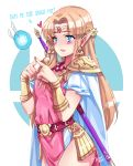 1girl artist_name blonde_hair blue_eyes blush cape dated earrings fairy highres jewelry long_hair meowyin navi nintendo nintendo_ead pauldrons pointy_ears princess princess_zelda solo sora_(company) standing super_smash_bros. super_smash_bros._ultimate the_legend_of_zelda the_legend_of_zelda:_a_link_between_worlds the_legend_of_zelda:_a_link_to_the_past tiara triforce tunic