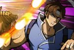 1boy belt blue_eyes brown_hair castlevania castlevania:_rondo_of_blood gloves headband jojo_no_kimyou_na_bouken male_focus nintendo phiphi-au-thon richter_belmondo short_hair simple_background solo super_smash_bros. super_smash_bros._ultimate weapon whip