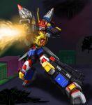 armor beam denkou_choujin_gridman drill gridman_(character) helmet mecha minori_0214 no_humans no_pupils orange_eyes thunder_gridman tokusatsu