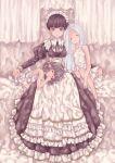 3girls ange_d'erlanger dress granblue_fantasy maid minigob mugikum0 multiple_girls pinafore_dress victorian_maid
