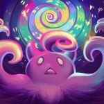 creature creatures_(company) face fangs game_freak gen_6_pokemon nintendo no_humans pokemon pokemon_(creature) pumpkaboo qesque solo spiral yellow_eyes