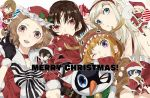 4boys 4girls akechi_gorou alternate_costume alternate_hairstyle amamiya_ren animal_costume ayyataka black_hair blonde_hair blue_eyes blue_hair brown_eyes brown_hair christmas curly_hair grey_eyes hairband hat hood kitagawa_yuusuke long_hair morgana_(persona_5) multiple_boys multiple_girls niijima_makoto okumura_haru orange_hair persona persona_5 red_eyes reindeer_costume sakamoto_ryuuji sakura_futaba santa_costume santa_hat short_hair takamaki_anne very_long_hair violet_eyes