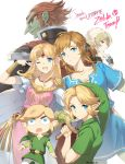 androgynous bandage blonde_hair blue_eyes braid dark_skin dual_persona ganondorf gloves hat highres link long_hair looking_at_viewer mask mask_removed master_sword multiple_boys multiple_girls muse_(rainforest) navi nintendo one_eye_closed pointy_ears ponytail princess_zelda red_eyes redhead reverse_trap sheik short_hair smile super_smash_bros. super_smash_bros._ultimate surcoat the_legend_of_zelda the_legend_of_zelda:_a_link_between_worlds the_legend_of_zelda:_breath_of_the_wild the_legend_of_zelda:_majora's_mask the_legend_of_zelda:_ocarina_of_time the_legend_of_zelda:_the_wind_waker the_legend_of_zelda:_twilight_princess toon_link triforce tunic white_background young_link