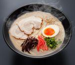 bowl egg food grey_background highres hokkaido_(artist) no_humans noodles original pork ramen realistic steam