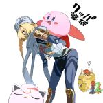 1girl androgynous bandage blonde_hair blue_eyes bowser braid creatures_(company) dark_skin dinosaur full_body game_freak gen_1_pokemon gloves hal_laboratory_inc. hat highres hoshi_no_kirby hugh jigglypuff kirby kirby_(series) long_hair mario mario_(series) mask multiple_boys nintendo nyagiratwist open_mouth pointy_ears pokemon pokemon_(creature) pokemon_(game) ponytail red_eyes redhead reverse_trap sheik shell simple_background smile sora_(company) spikes super_smash_bros. super_smash_bros._ultimate surcoat tail the_legend_of_zelda the_legend_of_zelda:_breath_of_the_wild the_legend_of_zelda:_ocarina_of_time white_background yoshi