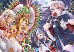 207loz 4girls :d :o absurdres ahoge altera_(fate) altera_the_santa artoria_pendragon_(all) bell bikini black_dress black_santa_costume blonde_hair box breasts candy candy_cane capelet christmas christmas_tree cleavage commentary_request dark_skin dress earmuffs elbow_gloves facial_mark fate/grand_order fate_(series) food frown fur-trimmed_capelet fur_trim gift gift_box gloves green_eyes hat headdress headpiece highres huge_filesize jeanne_d'arc_(fate)_(all) jeanne_d'arc_alter_santa_lily large_breasts long_hair looking_at_viewer multiple_girls night one_eye_closed open_mouth pale_skin quetzalcoatl_(samba_santa)_(fate) red_bikini red_eyes santa_alter santa_costume santa_hat short_hair silver_hair smile snow star swimsuit very_long_hair yellow_eyes
