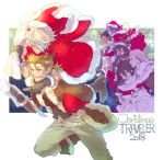 alfyn_(octopath_traveler) alternate_costume animal_costume blonde_hair blue_eyes box bracelet braided_ponytail breasts christmas christmas_tree cloak closed_eyes cyrus_(octopath_traveler) dancer dress earrings fringe_trim fur_trim gift gift_box gloves h'aanit_(octopath_traveler) hair_over_one_eye hat headband highres jewelry linde_(octopath_traveler) long_hair looking_at_viewer merry_christmas necklace octopath_traveler olberic_eisenberg one_eye_closed open_mouth ophilia_(octopath_traveler) pomme_oct primrose_azelhart red_dress red_gloves reindeer_costume sack santa_costume santa_hat short_hair simple_background smile snow_leopard therion_(octopath_traveler) tressa_(octopath_traveler)