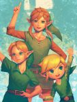 angry bellhenge blonde_hair fingerless_gloves gloves hat link master_sword nintendo pointy_ears short_hair smile super_smash_bros. super_smash_bros._ultimate the_legend_of_zelda the_legend_of_zelda:_breath_of_the_wild the_legend_of_zelda:_ocarina_of_time the_legend_of_zelda:_the_wind_waker toon_link triforce tunic young_link