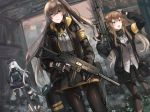 404_(girls_frontline) 4girls absurdres armband bangs belt beret black_bow black_gloves black_hat black_jacket black_legwear black_ribbon black_shorts blunt_bangs bow brown_eyes brown_hair closed_mouth coat commentary_request facial_mark fingerless_gloves full_body g11_(girls_frontline) girls_frontline gloves green_eyes green_hat green_jacket grey_hair gun h&k_ump h&k_ump45 h&k_ump9 hair_between_eyes hair_ornament hairclip handgun hands_up hat heckler_&_koch highres hk416_(girls_frontline) holding holding_gun holding_weapon holster holstered_weapon hood hood_down hooded_jacket huge_filesize jacket kasiwa_moka knee_pads long_hair looking_at_viewer messy_hair military multiple_girls one_side_up open_clothes open_coat open_jacket open_mouth pantyhose pistol plaid plaid_skirt ribbon scar scar_across_eye scarf_on_head shirt shorts shoulder_cutout silver_hair sitting skirt smile standing submachine_gun teardrop thigh-highs trigger_discipline ump45_(girls_frontline) ump9_(girls_frontline) weapon white_shirt zettai_ryouiki