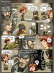 beard brown_hair comic english engrish epic facial_hair meryl_silverburgh metal_gear_solid nintendo peeing ranguage sleeping snake solid_snake source_request sweatdrop video_game wii