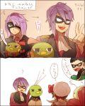 dc_comics itsuki_(pokemon) kotone_(pokemon) mask meganium natu pokemon pokemon_(creature) pokemon_(game) pokemon_gsc pokemon_hgss purple_hair robin stone_(shirokanipe_ranran) xatu