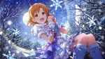 blush dress idolmaster idolmaster_million_live! idolmaster_million_live!_theater_days orange_eyes orange_hair short_hair smile winter yabuki_kana