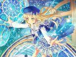 bang_dream! blonde_hair blush dress hat long_hair smile tsurimaki_kokoro yellow_eyes