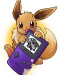 artist_request brown_eyes creatures_(company) eevee game_freak gen_1_pokemon holding looking_at_viewer nintendo no_humans open_mouth pixelated pokemon pokemon_(creature) pokemon_(game) pokemon_rgby simple_background source_request star white_background