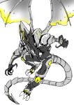 1boy absurdres capt_anaugi claws dragon glowing highres meta_ridley metroid nintendo no_humans ridley wings