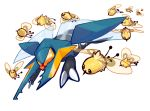 black_eyes bug circins claws commentary creature creatures_(company) cutiefly english_commentary flying game_freak gen_7_pokemon insect nintendo no_humans pokemon pokemon_(creature) transparent_background vikavolt wings