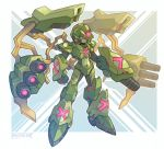 1boy android arm_cannon armor cannon capcom frown full_body gloves green_armor green_eyes helmet highres male_focus robot rockman rockman_x rockmanx solo solo_focus standing tomycase weapon x x_(rockman)