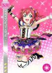 armpits blush character_name dress green_eyes kurosawa_ruby love_live!_school_idol_festival love_live!_sunshine!! pink_hair short_hair smile