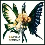 2girls aerie_(bravely_default) anne_(bravely_second) antenna_hair artist_request bare_shoulders black_gloves black_legwear black_leotard blonde_hair bravely_default:_flying_fairy bravely_default_(series) bravely_second:_end_layer brown_eyes butterfly_wings copyright_name dress elbow_gloves fairy fairy_wings from_side gloves hand_holding legs_up leotard long_hair looking_at_viewer multiple_girls pointy_ears short_dress short_hair simple_background sketch smile source_request strapless strapless_dress thigh-highs white_background white_dress wings