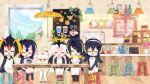 6+girls ^_^ alpaca_ears alpaca_suri_(kemono_friends) animal_ears black_footwear black_hair blonde_hair blush boots chair closed_eyes closed_eyes common_raccoon_(kemono_friends) cup drawstring emperor_penguin_(kemono_friends) facing_viewer fennec_(kemono_friends) food fur_collar gelatin gentoo_penguin_(kemono_friends) hair_over_one_eye headphones hood humboldt_penguin_(kemono_friends) indoors kemono_friends long_hair low_twintails milo miniskirt multicolored_hair multiple_girls official_art open_mouth orange_hair own_hands_together penguins_performance_project_(kemono_friends) pink_footwear pink_hair pleated_skirt redhead rockhopper_penguin_(kemono_friends) royal_penguin_(kemono_friends) serval_(kemono_friends) sitting skirt teapot thigh-highs twintails white_legwear white_skirt window yellow_footwear