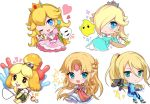 1boy 2others 5girls animal_ears bell blonde_hair blue_eyes blush blush_stickers chibi chiko_(mario) crown dog dog_ears dog_girl dog_tail doubutsu_no_mori dress earrings furry gun hair_ornament hair_over_one_eye jewelry long_hair looking_at_viewer mario_(series) metroid moorina nintendo one_eye_closed open_mouth pink_dress ponytail princess_peach princess_zelda rosetta_(mario) samus_aran shizue_(doubutsu_no_mori) skirt smile sora_(company) star star_earrings super_mario_bros. super_mario_galaxy super_smash_bros. super_smash_bros._ultimate super_smash_bros_brawl super_smash_bros_for_wii_u_and_3ds super_smash_bros_melee tail the_legend_of_zelda the_legend_of_zelda:_a_link_between_worlds tobidase:_doubutsu_no_mori topknot wand weapon zero_suit